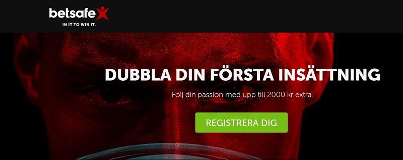 Ta del av en 2000 kr sportbonus hos Betsafe!