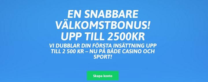 Snabbare bonus upp till 2500 kr